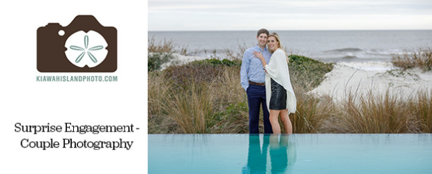 Surprise engagement session on Kiawah Island, South Carolina